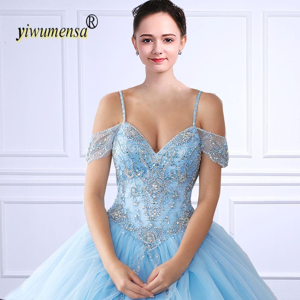 b9d7ebc33d6 yiwumensa vestidos de 15 anos Quinceanera Dresses tulle ball gown Crystals  Beaded Pink sweet 16 baljurken