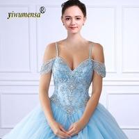 Yiwumensa Vestidos De 15 anos Бальные платья праздничный фатиновый наряд Кристаллы из бисера розовый сладкий 16 baljurken 15 сшитое платье