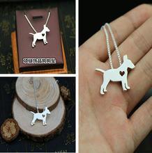 Ожерелье с изображением собаки Бультерьера красивое украшение