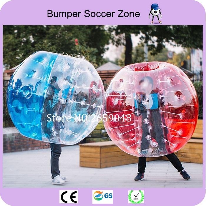 Envío gratis 1.5 m 1.0 mm PVC burbuja inflable traje de fútbol burbuja bola traje tamaño humano bola de hámster para la venta