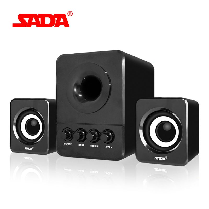 SADA D-203 Kombination Lautsprecher USB 2.1 Wired Mini Tragbare Lautsprecher für Desktop-Computer Handy Notebook