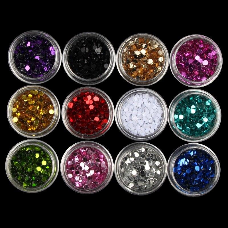 Liefern 12 Farben Schillernden Pailletten Nagel Glitter Set 3d Pvc Nagel Pulver Staub Frauen Nail Art Dekorationen Diy Maniküre Werkzeuge Wy640 Volumen Groß Nagelglitzer