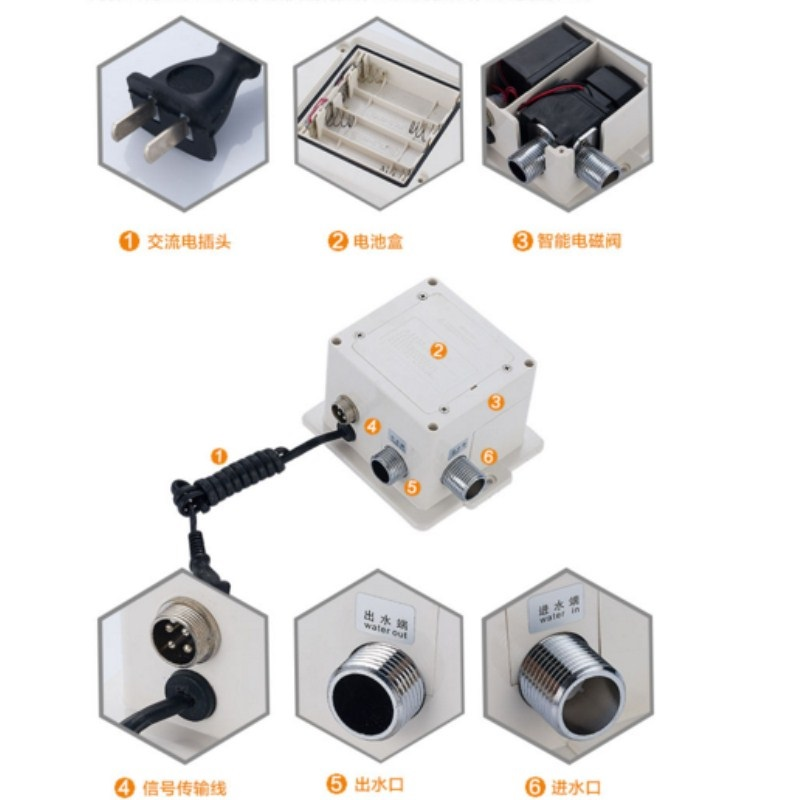Infrared induction faucet Circuit board Electromagnetic valve Platform Basin Hot and cold sensor hand washer Control box in Other Kitchen Specialty Tools from Home Garden
