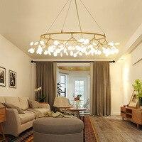 Современные светодиодные Люстры для столовой Кухни бара гостиной AC85 265V Розовый золотой и черной стальной подвесной светильник LED лампа в ви