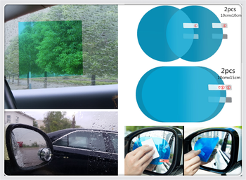 Car flooding reversing mirror full screen nano waterproof film for Pontiac Vibe Scion tC Toyota Yaris Hatchback Prius image