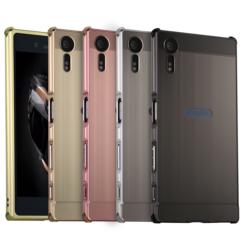 check out a8565 728d0 US $6.99 |New Cover For SONY Xperia XZs G8232 Case Anti Knock Metal  Aluminum Frame Brushed PC Back Cover For Xperia XZ s Case Coque-in Phone  Pouch ...