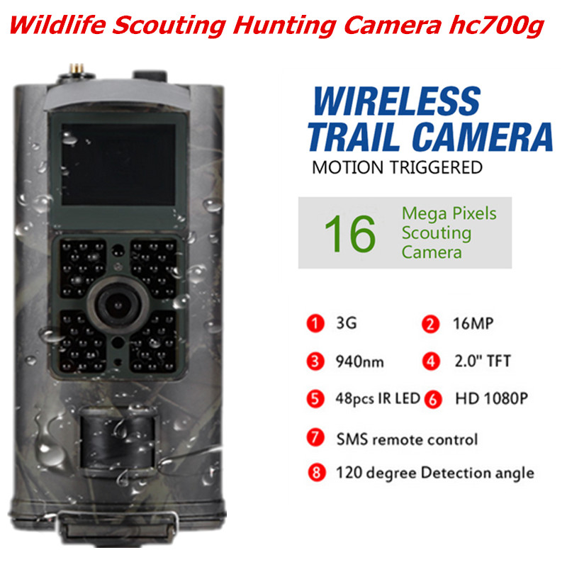 Hc700g caméra de chasse surveillance à domicile solaire 16MP surveillance de la faune chasse piste caméra piège version nocturne caméras