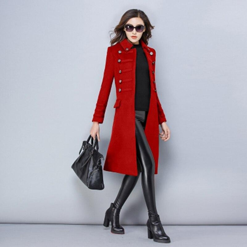 Invierno de gran tamaño S-3XL de lana de las mujeres chaqueta de abrigo de Otoño de 2018 de moda de alta calidad largo chaqueta ropa femenina ll582 - 2