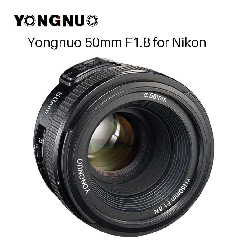 YONGNUO YN50MM F1.8 Grande Ouverture Auto Focus Lens plein cadre, AF-S 50mm f1.8 pour Nikon D3300 D5300 D5100 d750 Caméra DSLR