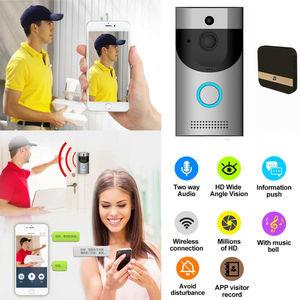 Image 2 - Anytek B30 無線 Lan インターホンビデオドアベルカメラ + B10 ドアベル受信機セットドアベルカメラ Wifi ビデオナイトビジョン