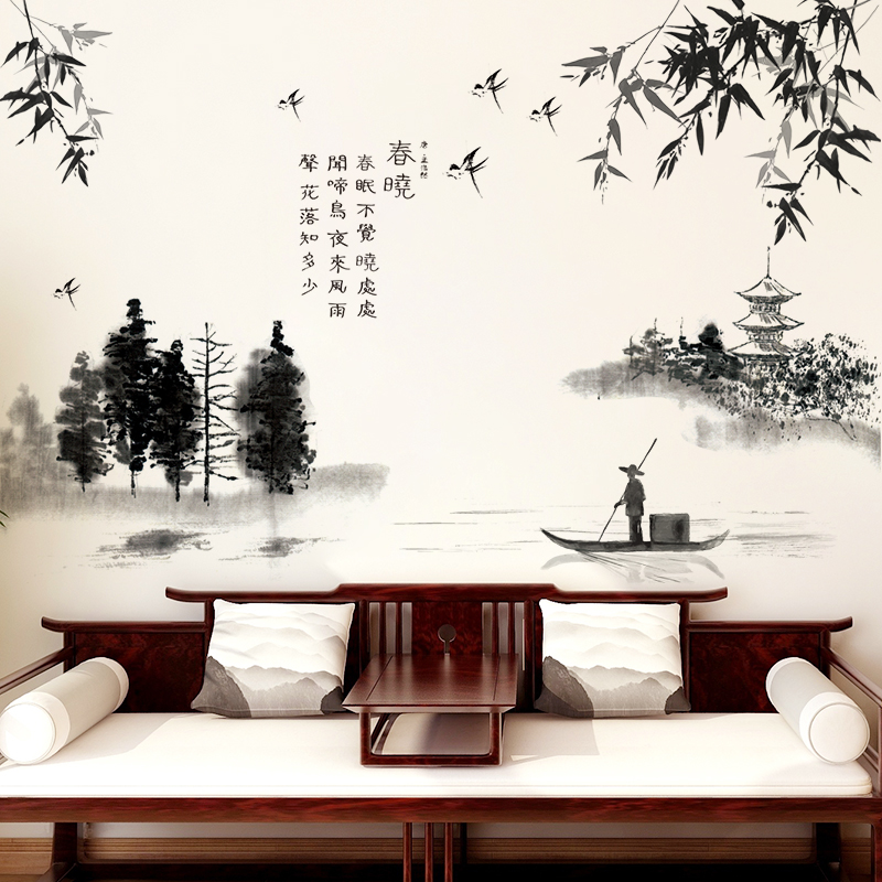 [SHIJUEHEZI] μαύρο χρώμα πλύση ζωγραφική - Διακόσμηση σπιτιού - Φωτογραφία 5