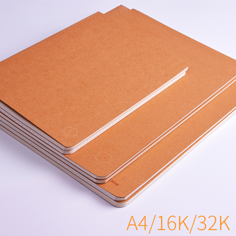 A5 A4 B5 grid notebook Korea simple creative retro student square lattice 16 32K kraft paper notepad mirui small fresh loose leaf notebook korea simple b5 coil detachable refill student notebook a5 book a4