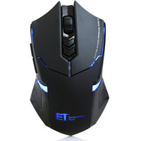 Wireless Mute Silent Gaming Mouse LED 7 Buttons 2 4GHz USB Receiver Gamer Mice For PC