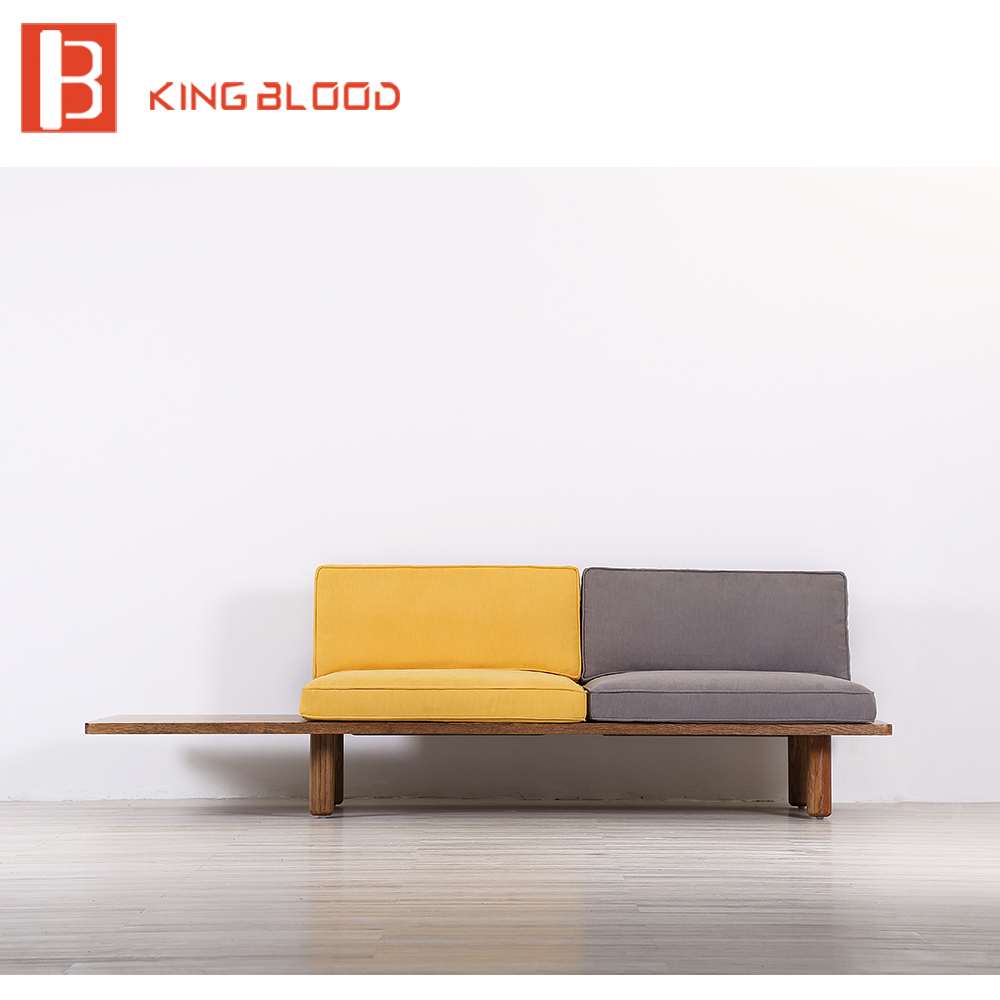 Low Price Modern Nordic Fabric Home Lobby Wooden Sofa Set