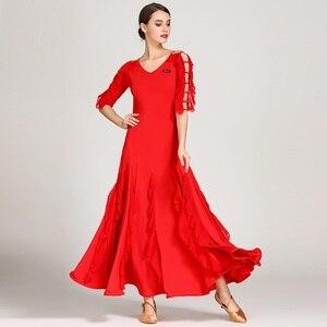 Image 5 - 女性社交ドレスワルツダンスドレスフォックストロットダンスドレススペインフラメンコドレスダンスブラックダンスの服標準ドレス