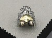 Ручной работы Перо золото точка Орел кольцо мужской указательный палец S925 серебро хвост кольцо тайский серебряное кольцо