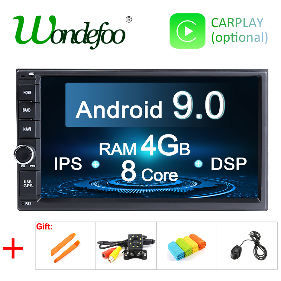 DSP Android 9 0 4G 64G Universal 2 din Car Multimedia Player Autoradio 2din Stereo 7
