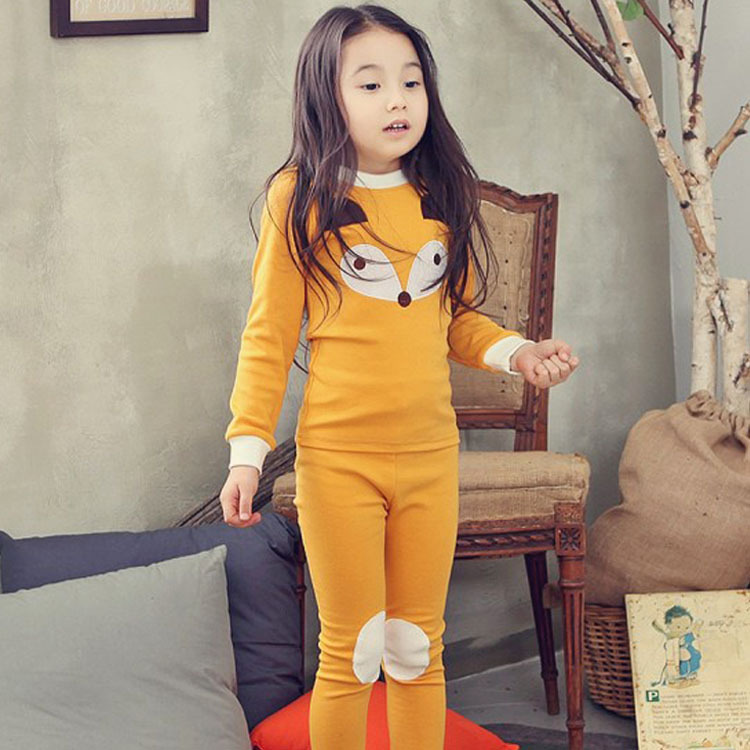 Kid 39 s Underwear Set Cotton sweater Baby 39 s Pajamas Autumn Winter in Pajama Sets from Mother amp Kids
