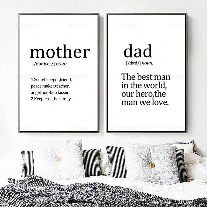Скандинавские черно-белые текстовые печатные плакаты картины живопись Современная живопись Домашний декор гостиной