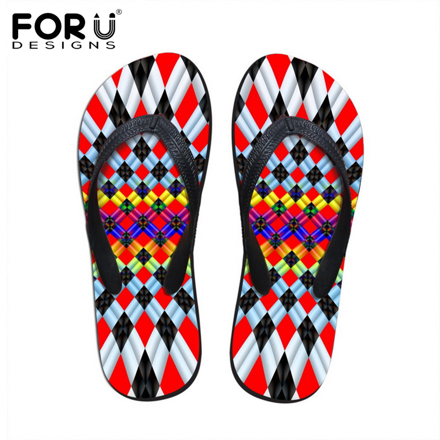 FORUDESIGNS Summer Women Soft Rubber Flip Flops Fashion Home and Beach Casual Slippers for Ladies Non-slip Women's Flipflops fashion boutique beige rubber soft front insole for ladies fit any shoes