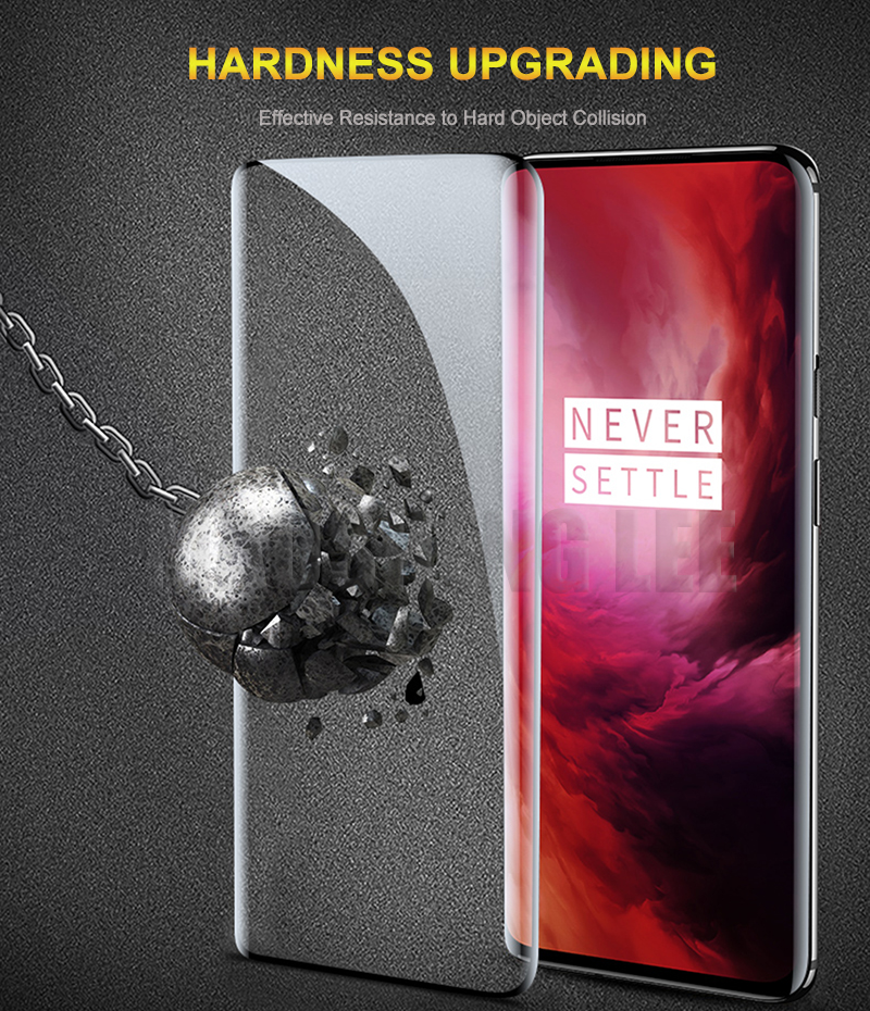 Image 5 - 9D Curved Tempered Glass For Oneplus 7 Pro Glass Screen Protector Full Cover For oneplus 7 pro Glass Protective film-in Phone Screen Protectors from Cellphones & Telecommunications on