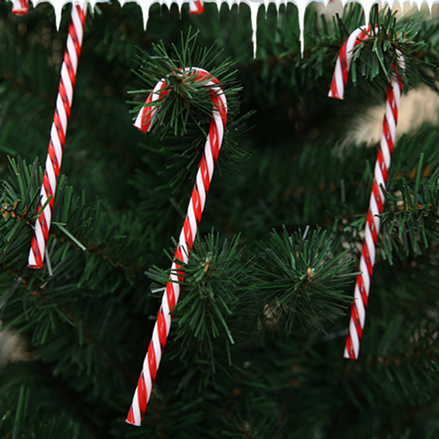 6 pz/lotto Candy Stampella Ciondolo Decorazione Albero Di Natale Appeso Ornament