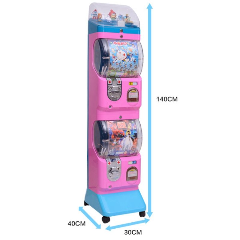 1 Piece Free Shipping Coin Operated Gumball Capsules Toy Vending Game Machine high quality coin operated slot machine for toys vending cabinet capsule vending machine big bulk toy vendor arcade machine