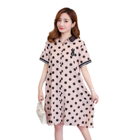 Polka Dot Maternity Dress Brief Pregnancy Clothes 2018 Loose Dot Chiffon Pregnancy Clothing Of Pregnant Women Premama