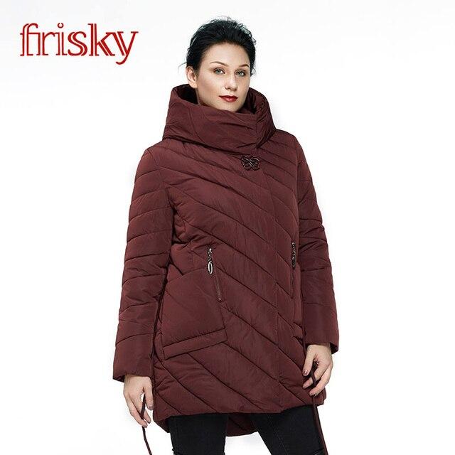 2018 Frisky Пальто женское плюс размера Резвый Новых женщин Зимний Пуховик большего размера Женская Мода Повседневная Длинные Парки Вниз Пальто бесплатно доставик в ukraine FR8006