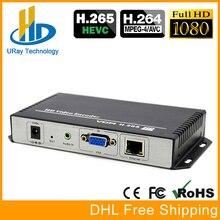 HEVC H.265 H.264 1080 P IP RTSP Streaming Codificador De Áudio De Vídeo VGA RTMP Codificador Codificador IPTV Ao Vivo em HD VGA Para LAN Transmissor Servidor