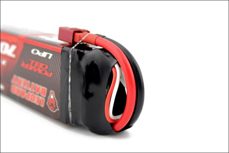 2 pcs LEOPARDO Lipo 40C 2 s 7000 mah Bateria Lipo 7.4 v Bateria para 1/10 de Carro RC 1/8 carro para Traxxas BARRA E REVO TR 4 FLUXO NERO - 2