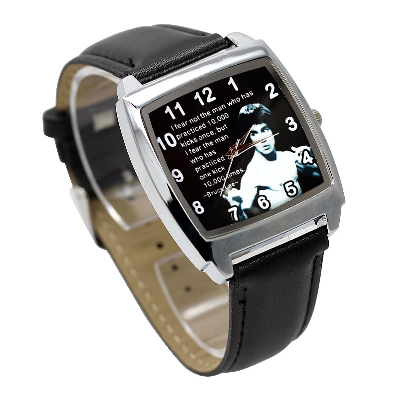 Children Watch Boy Girl Kids Clock Fashion Chinese Style Kung Fu Superstar Bruce Lee Cartoon Children's Watch Sport Wristwatch