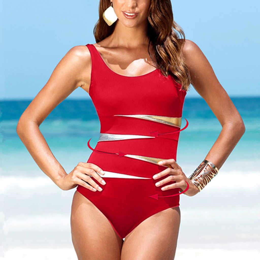 ملابس سباحة نسائية بكيني 2020 mujer بمقاس كبير بطباعة تانكيني ملابس سباحة مبطنة للشاطئ ملابس سباحة نسائية