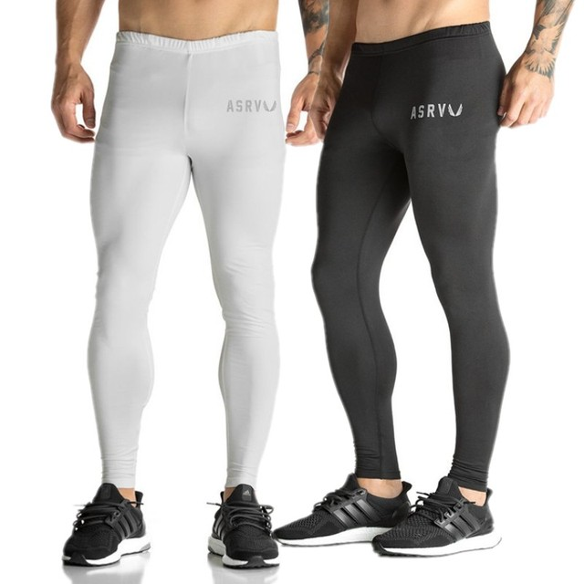 32513929708ff5 Brand men's 3D Printed Pattern Compression Tights Pants Men Sweatpants ASRV Fitness  Skinny Leggings Trousers Male