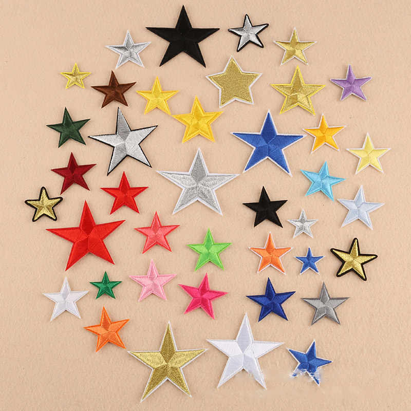 1pcs Embroidered pentagram Patches Star Iron-on Applique Eco-Friendly For Clothing  Badge Paste 23d8bd8a3d87