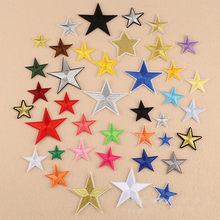 1pcs Embroidered pentagram Patches Star Iron-on Applique Eco-Friendly For Clothing Badge Paste,Hat,Clothes Sewing Supplies(China)