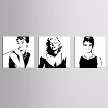 Canvas Prints Marilyn Monroe Portrait Art Home Decor Wall Pictures American Actress Painting 3pcs