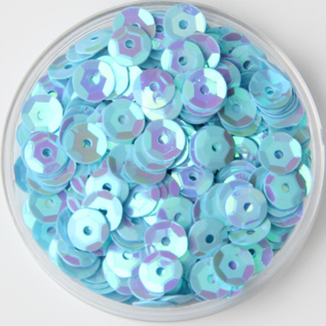 6mm AB L-Blue Cup Round Loose Sequins Paillette Sewing Wedding Craft. Mouse  over to zoom in c2d75c7dbdd4