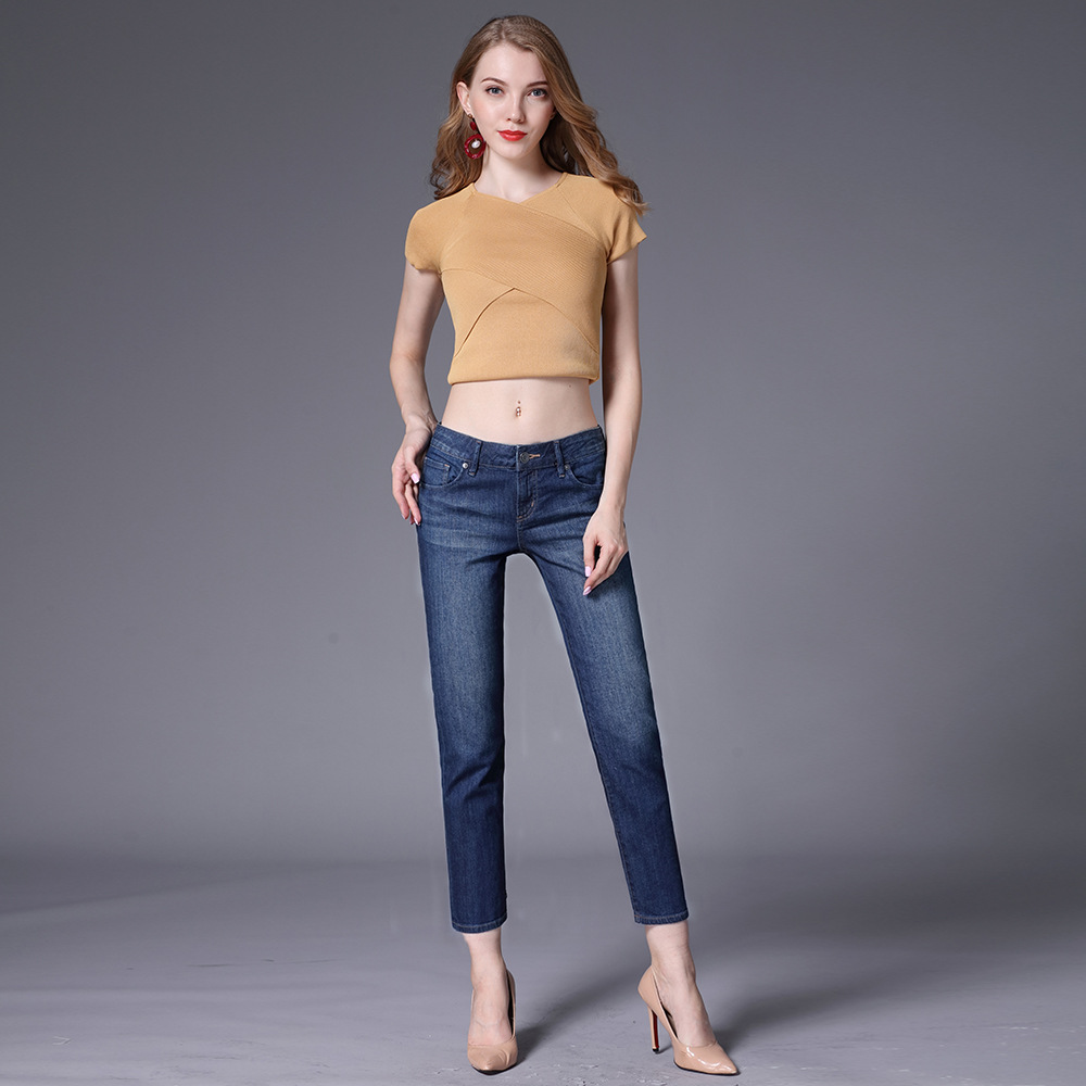 Ladies Denim Plus Size Jeans Push Up Curvy Jeans Woman Summer Slim Straight Jeans For Women Female Shaping Ankle Denim Pants image