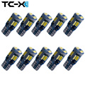 TC-X 5Pairs Canbus T10 10SMD 5730LED car Light Canbus NO OBC ERROR Each 2pc/pair packing T10 W5W 194 SMD super bright Led Bulb