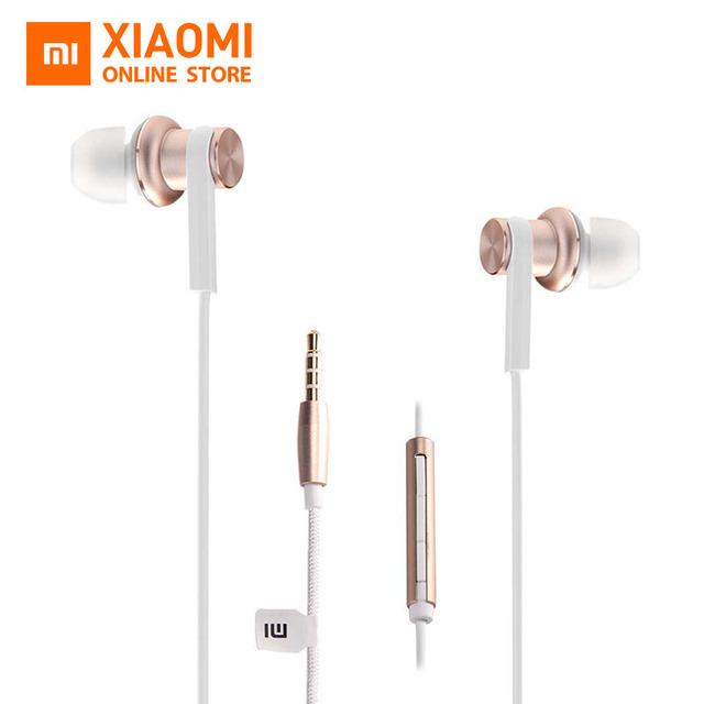Original Xiaomi Mi IV Hybrid Earphones Wired Control with MIC for xiaomi MI3 MI5 Redmi 3 & other smartphone – Gold