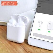 New i60 tws mini wireless bluetooth 5.0 Earphones Fingerprint Touch Smart pairing Headphones Wireless charging with charging box