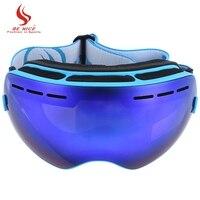 New Design Unisex BENICE Double Lens UV400 Anti Fog Big Spherical Skiing Glasses Snow Goggles Sports