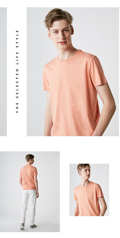 Men's Summer 100% Cotton Pure Color Round Neckline Short-sleeved T-shirt 56