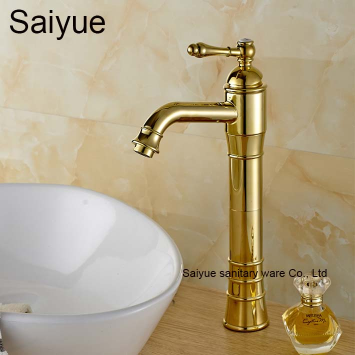 Long Gold Fashion Luxury Bathroom Banheiro Faucet Hot and Cold Tap in Bath Sink Basin Torneiras Wash Badezimmer Mixer купить дешево онлайн