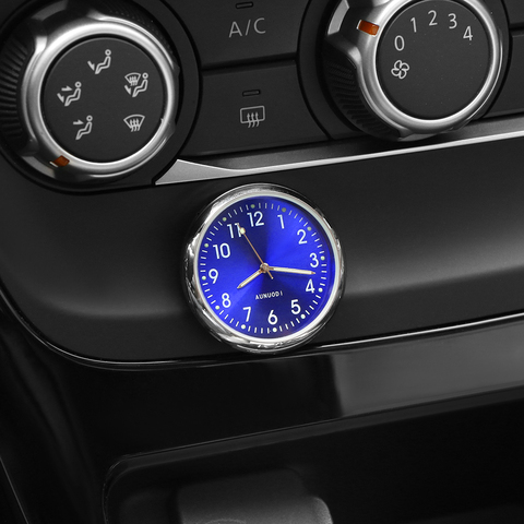 Car Ornament Automotive Clock Auto Watch Automobiles Interior Decoration Stick-On Clock Ornaments Accessories Christmas Gifts Lahore