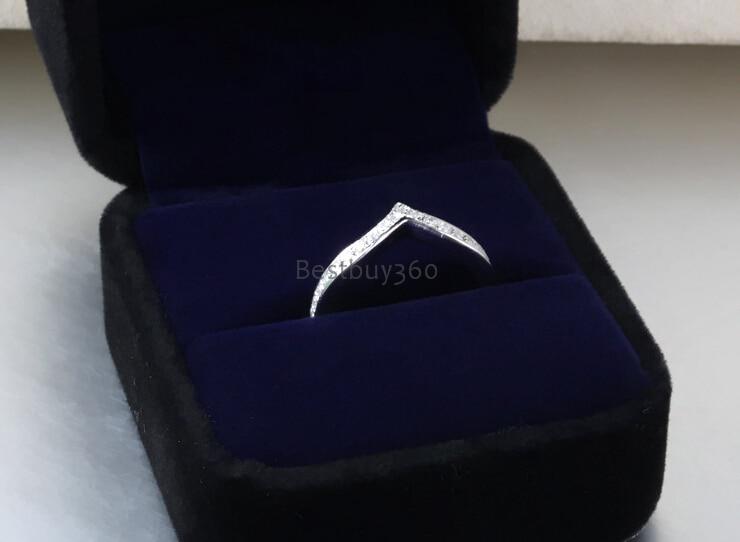 Gioielli con diamanti SONA sintetico anello di diamante di modo 925 sterling silver principessa corona anello nome incisione anelli (JSA)Gioielli con diamanti SONA sintetico anello di diamante di modo 925 sterling silver principessa corona anello nome incisione anelli (JSA)