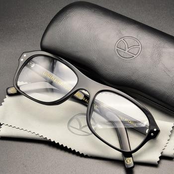 711a3161572 Kingsman Eyeglass Golden Circle Secret Service Glasses Harry Hart Eggsy  Eyeglasses Top Acetate Frame British Style Eyewear