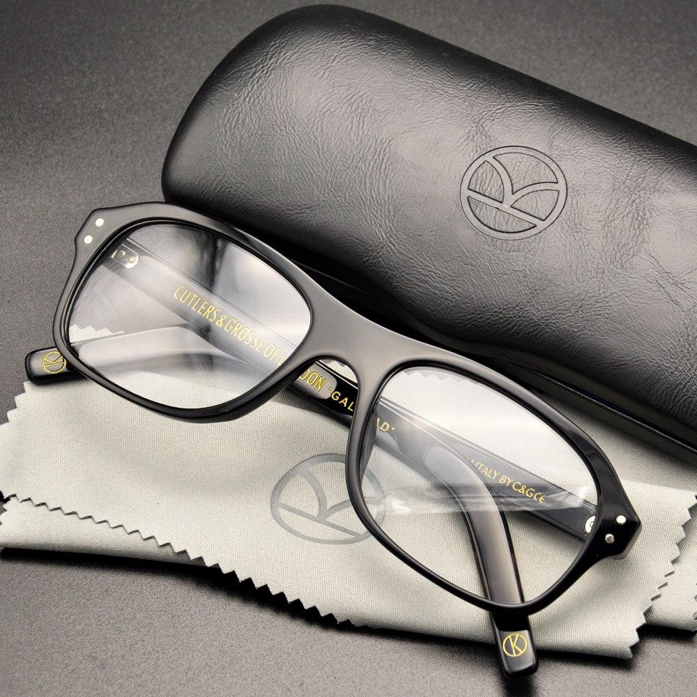 Kingsman lunettes cercle d'or Service Secret Kingsman lunettes Harry aubergsy lunettes haut acétate cadre Style britannique lunettes
