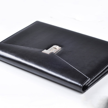 A4 Document File Folder with Lock Padfolio Fichario Password Briefcase Organzier Notebooks Handle PU Leather Office Manager Bag folder for documents cagie lock mens leather manager folder vintage black file storage padfolio bag case for document organizer